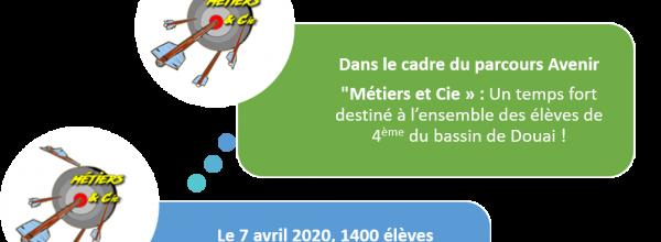 """""""Métiers et Cie » : Un temps fort destiné à l'ensemble des élèves de 4ème du bassin de Douai !"""