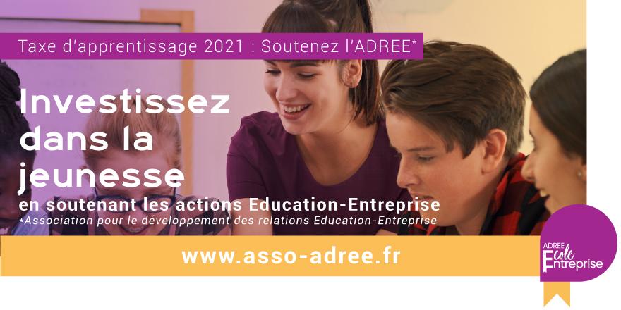 TAXE D'APPRENTISSAGE 2021 : Soutenez l'ADREE